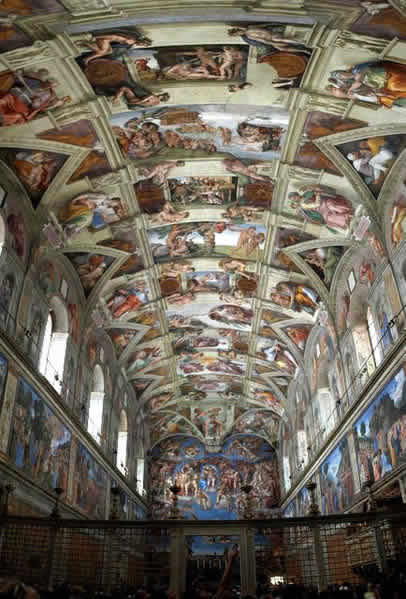 ... 礼拝堂 天井画 ミケランジェロ